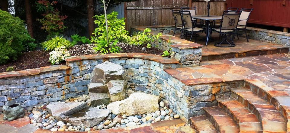 Landscaping Rocks Puyallup : Masonry natural outcropping rocks patios and walkways retaining walls